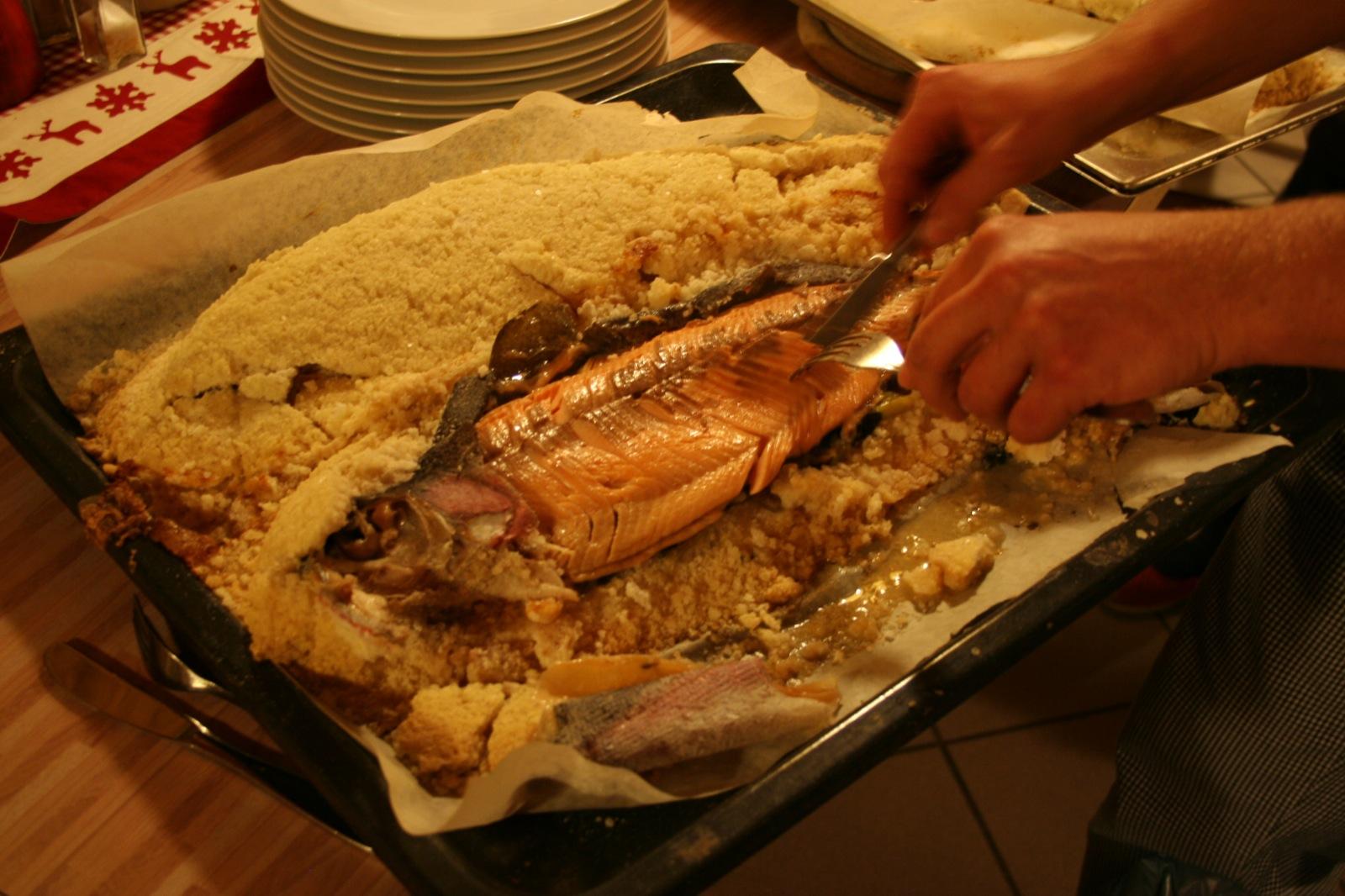 Fisch in der Salzkruste